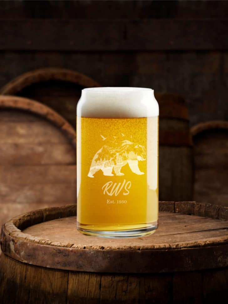 Grain+Oak Can-shaped Pint Glass