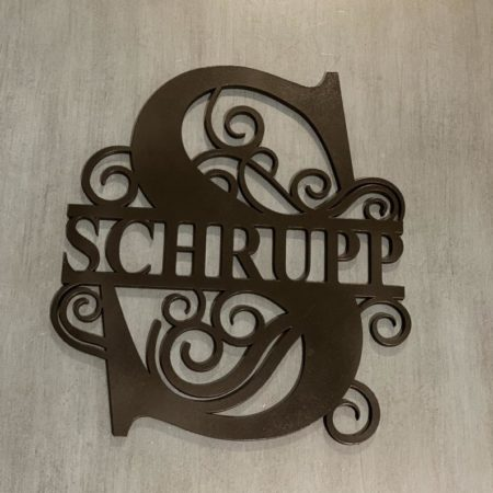 Laser-Cut Wood Name Signs