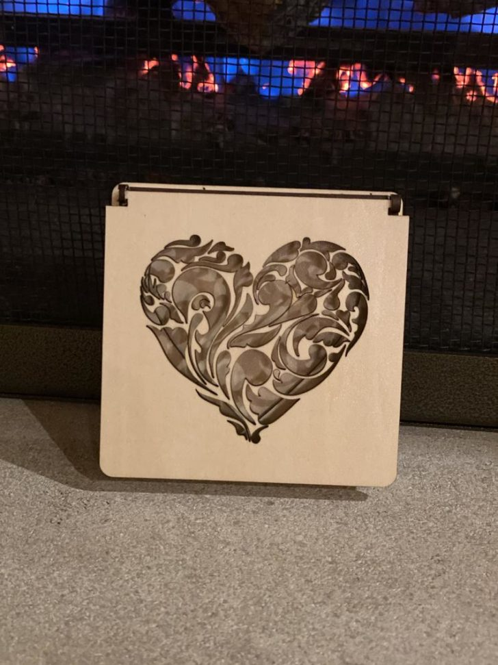 Laser-Cut Wood Ring Box from BlackSheepCreationsM on Etsy