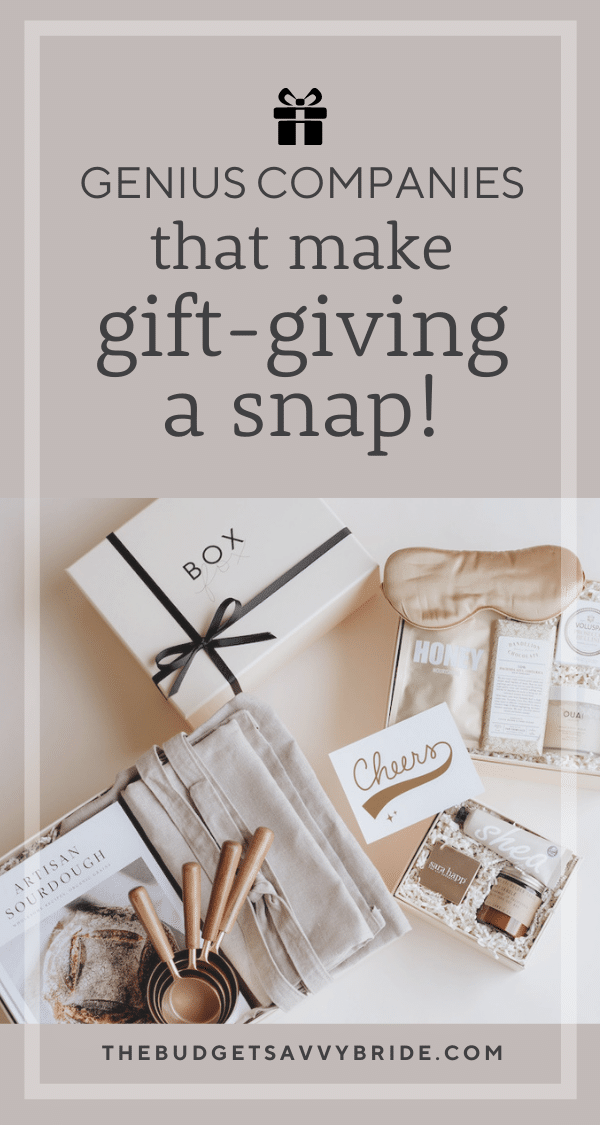 Done for you gift ideas - genius companies that make gift-giving a snap!