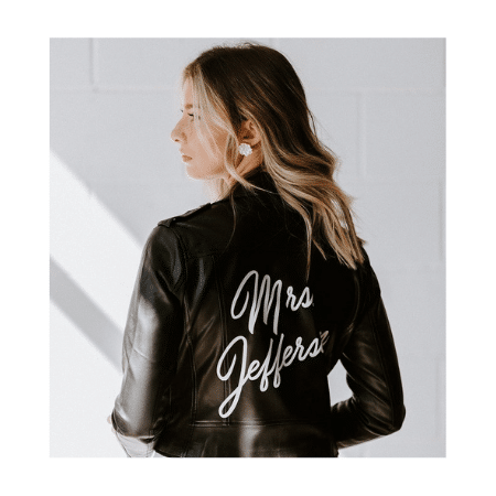 Wedding Gifts for spouse on your big day-Personalized Leather Mrs. Jacket