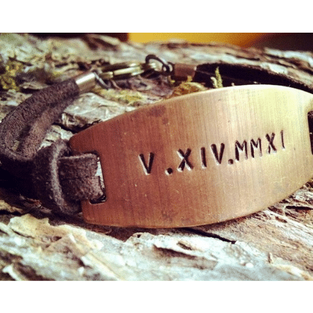Wedding Gifts for spouse on your big day-Roman Numeral Wedding Date Bracelet