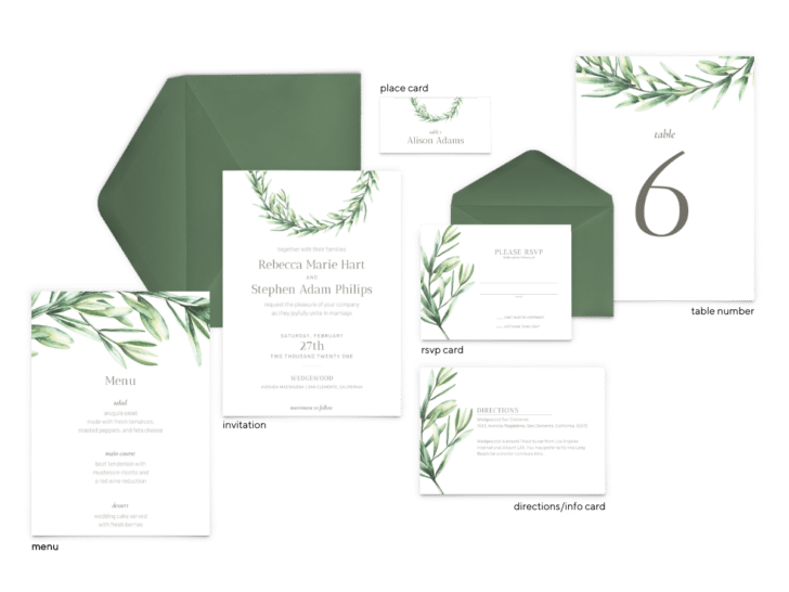 Chelsea Suite - Free Wedding Invitation Printables from The Budget Savvy Bride