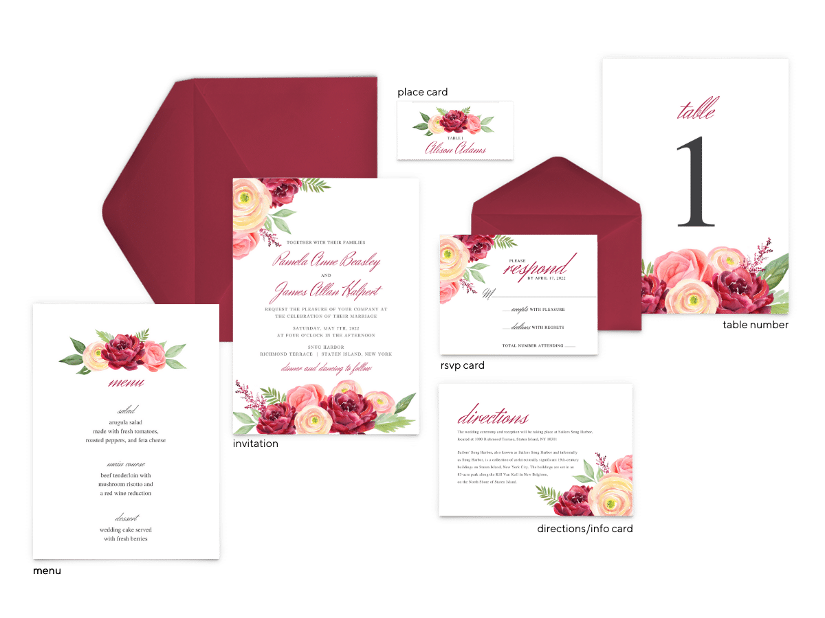 Nickell Suite - Free Wedding Invitation Printables from The Budget Savvy Bride