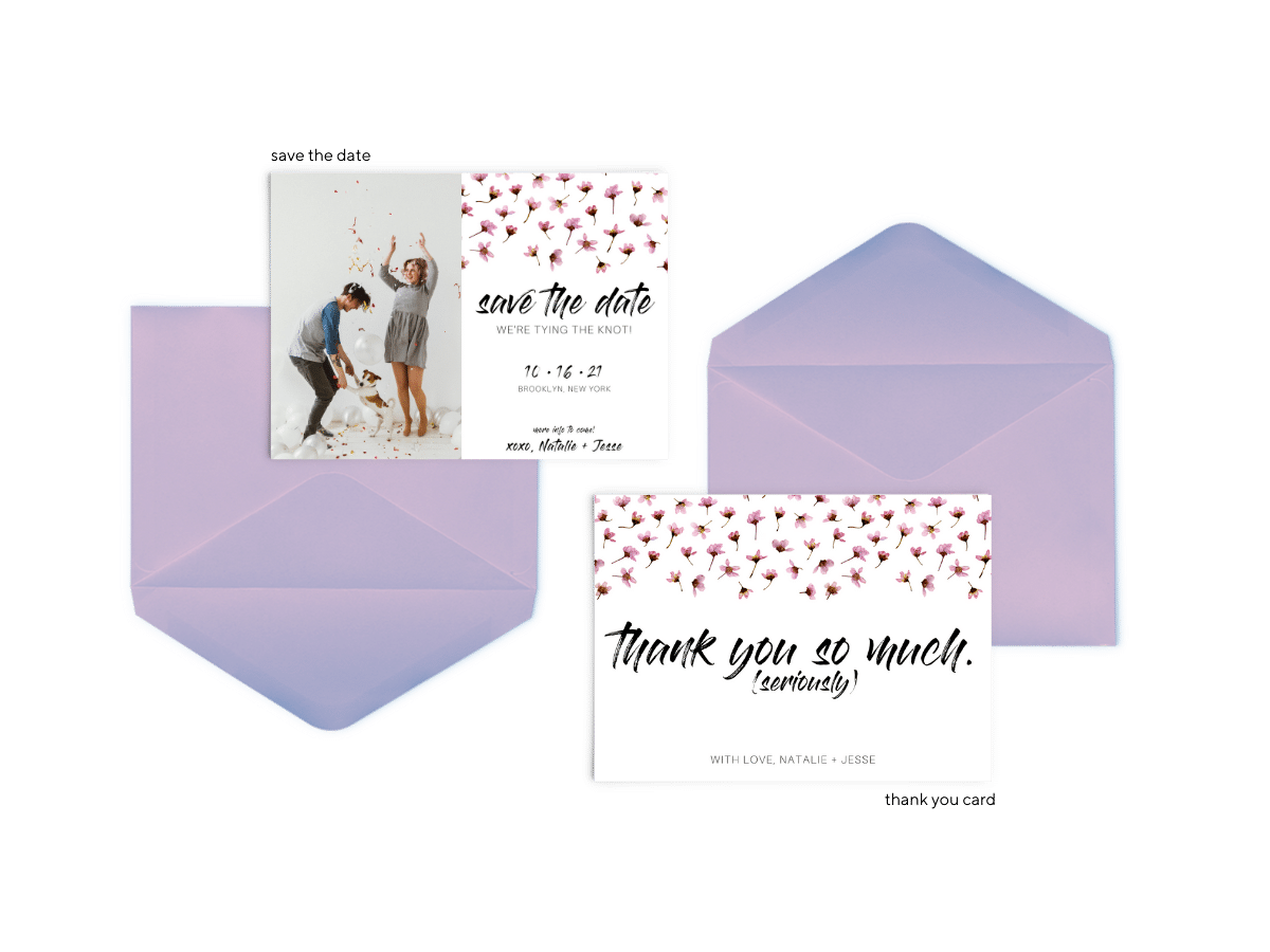 Natalie Suite - Free Wedding Invitation Printables from The Budget Savvy Bride