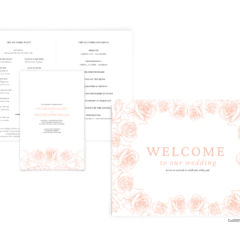 Phoebe Suite - Free Wedding Invitation Printables from The Budget Savvy Bride