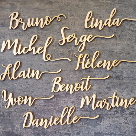 Laser Cut Place Cards