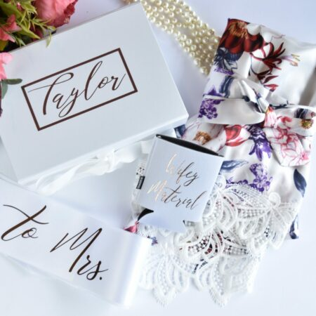 Personalized Bride Box with Optional Robe or Tumbler