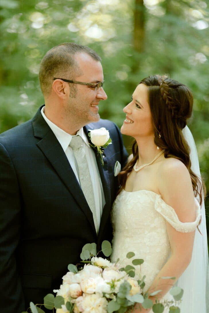 Romantic Fairytale Forest Wedding for under $9K