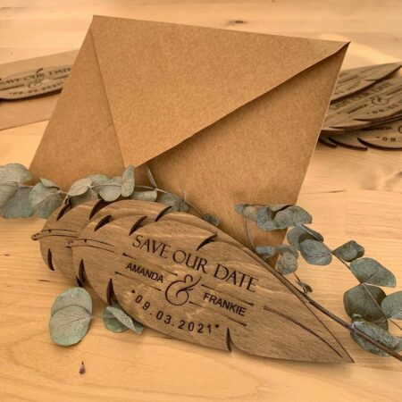 Rustic Wooden Save the Date Magnet - 30 Count