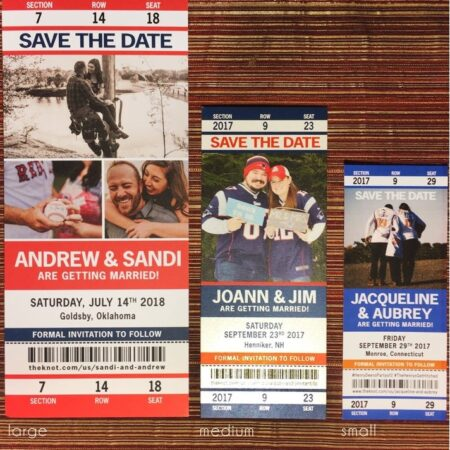 Sports Tickets Wedding Save the Date or Invitation Download