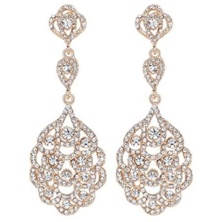 Teardrop Crystal Rhinestone Earrings