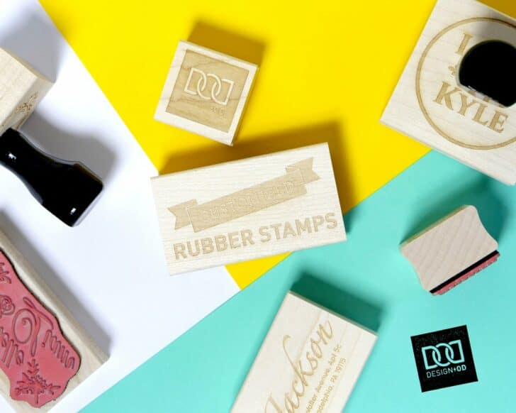 custom rubber stamps from designod on etsy
