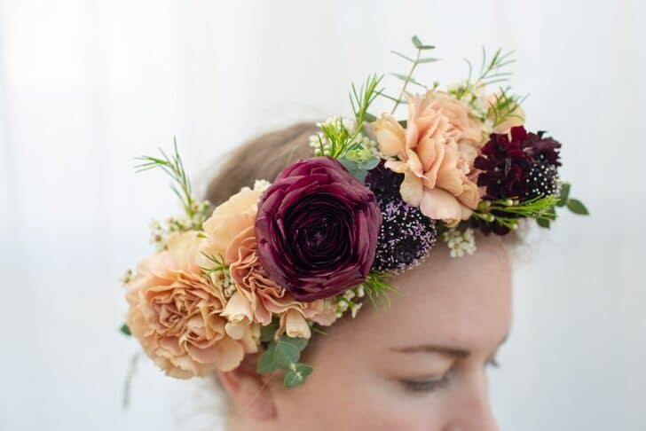 DIY Wedding Flower Crowns from Bloom Culture Flowers
