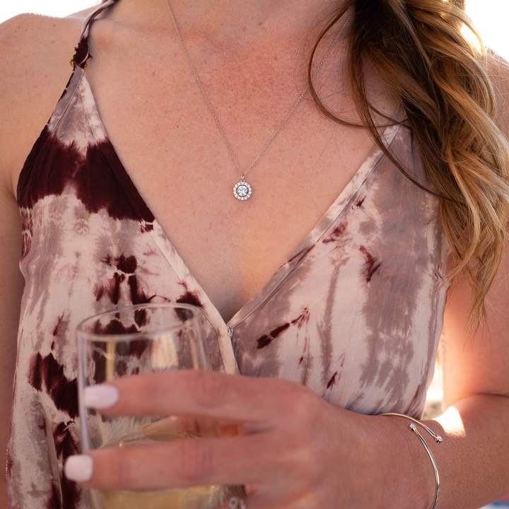 modern gents drop necklace