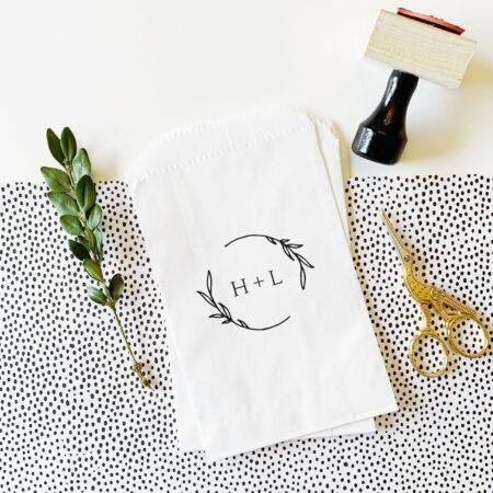 printsmitten custom ink initial stamp for weddings
