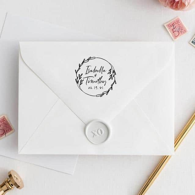 custom wedding stamps from etsy starboardhome