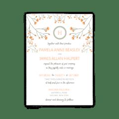 Bryce Wedding Invitation - Free Printable Wedding Invitations - Edit with Canva!