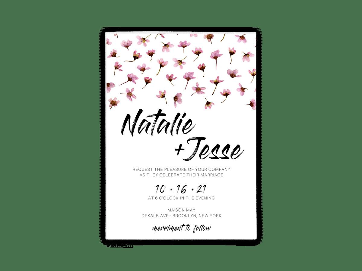 Natalie Wedding Invitation - Free Printable Wedding Invitations - Edit with Canva!