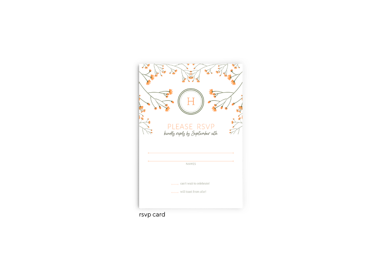 Bryce Wedding RSVP Card - Free Printable Wedding Invitations - Edit with Canva!