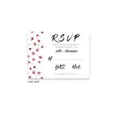 Natalie RSVP Card - Free Printable Wedding Invitations - Edit with Canva!
