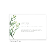 Chelsea Wedding Enclosure Card - Free Printable Wedding Invitations - Edit with Canva!