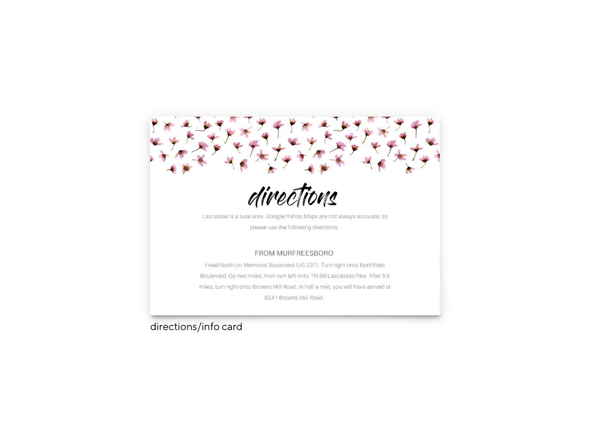 Natalie Enclosure Card - Free Printable Wedding Invitations - Edit with Canva!