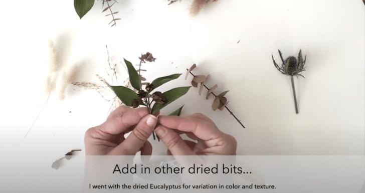 boutonnières florales séchées étape 2