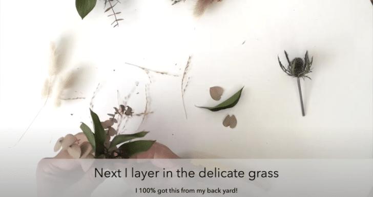 boutonnières florales séchées étape 4