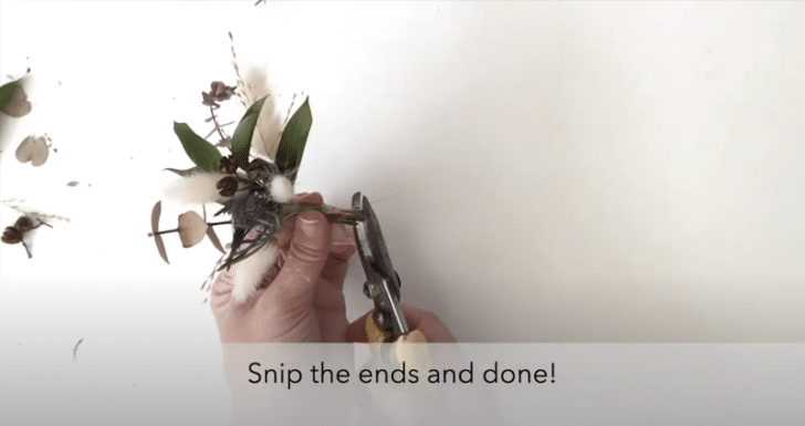 boutonnières florales séchées étape 8