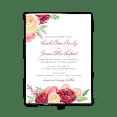 Nickell Wedding Invitation - Free Printable Wedding Invitations - Edit with Canva!