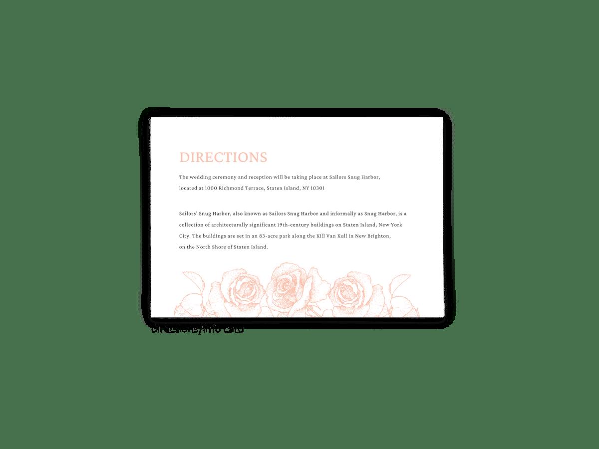 Phoebe Enclosure Card - Free Printable Wedding Invitations - Edit with Canva!