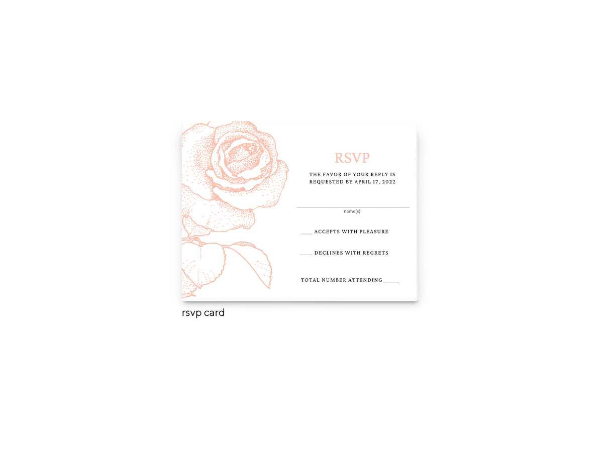Phoebe RSVP Card - Free Printable Wedding Invitations - Edit with Canva!