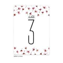 Free Editable Wedding Table Numbers • Natalie Collection • The Budget Savvy Bride