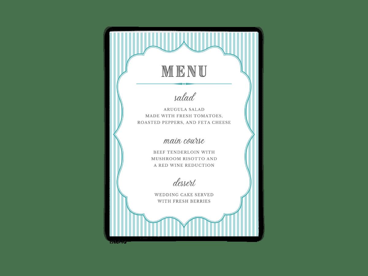Free Editable Wedding Menus • Amber Collection • The Budget Savvy Bride