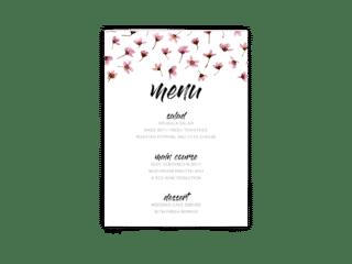 Free Editable Wedding Menus • Natalie Collection • The Budget Savvy Bride