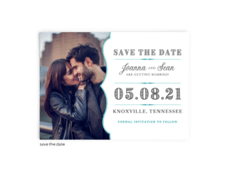 Save the Date Card • Amber Collection • The Budget Savvy Bride