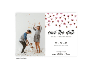Save the Date Card • Natalie Collection • The Budget Savvy Bride