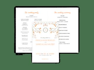 Free Editable Wedding Program • Bryce Collection • The Budget Savvy Bride