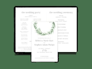 Free Editable Wedding Program • Chelsea Collection • The Budget Savvy Bride