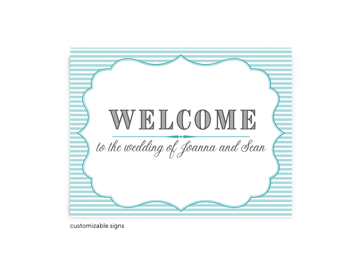 Free Editable Wedding Signs • Amber Collection • The Budget Savvy Bride