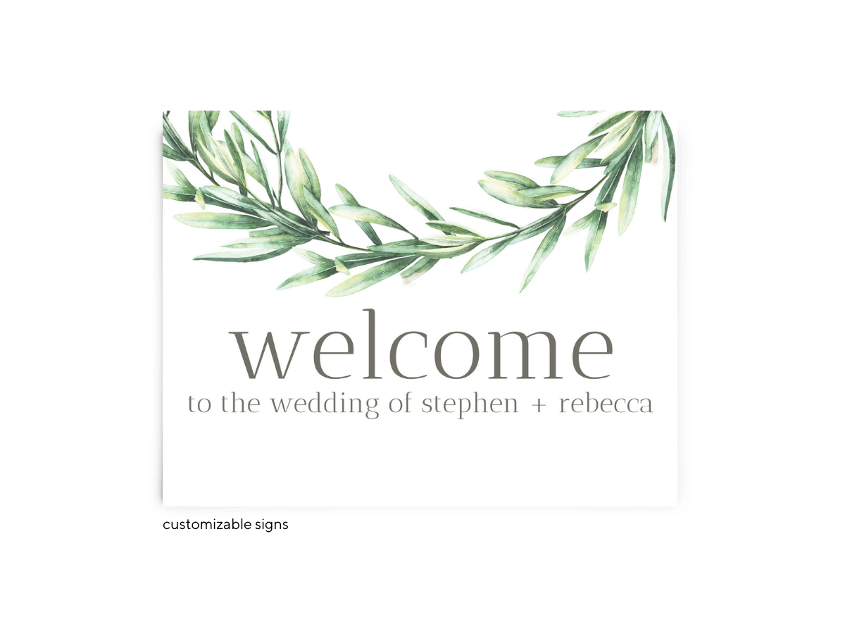 Free Editable Wedding Signs • Chelsea Collection • The Budget Savvy Bride
