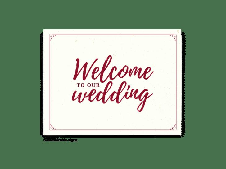 Letreros de boda gratuitos y editables • Colección Mallory • La novia inteligente y económica