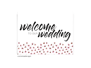 Free Editable Wedding Signs • Natalie Collection • The Budget Savvy Bride