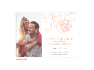 Save the Date Card • Phoebe Collection • The Budget Savvy Bride