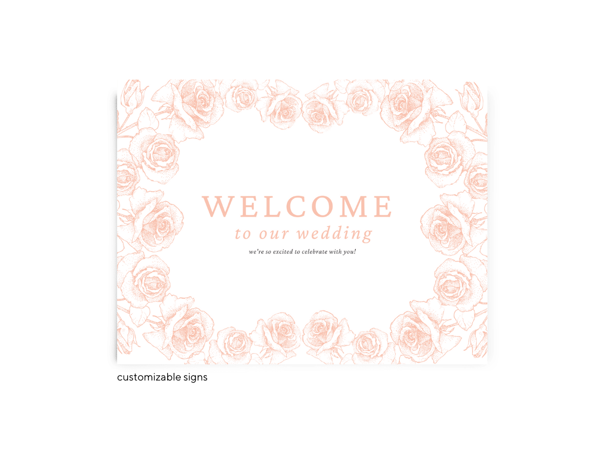 Free Editable Wedding Signs • Phoebe Collection • The Budget Savvy Bride
