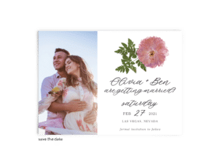 Save the Date Card • Grace Collection • The Budget Savvy Bride
