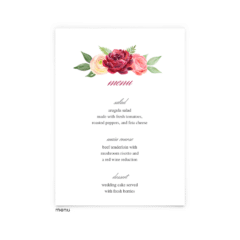 Free Editable Wedding Menus • Nickell Collection • The Budget Savvy Bride