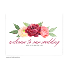 Free Editable Wedding Signs • Nickell Collection • The Budget Savvy Bride