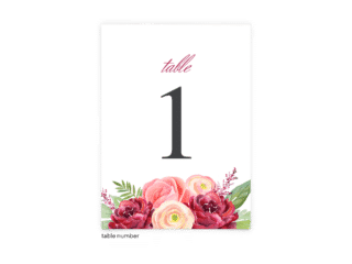 Free Editable Wedding Table Numbers • Nickell Collection • The Budget Savvy Bride